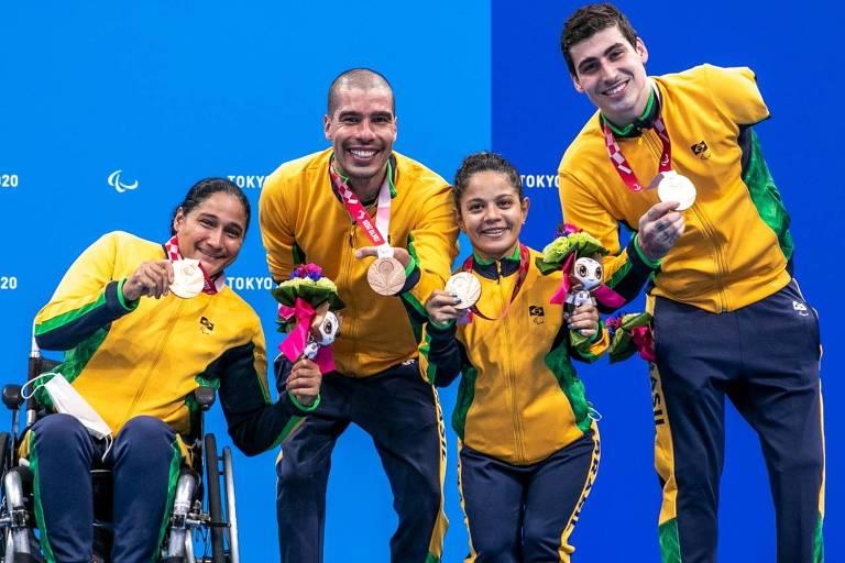 Paralimpíadas têm pratas no hipismo e na esgrima e mais feitos de Daniel Dias
