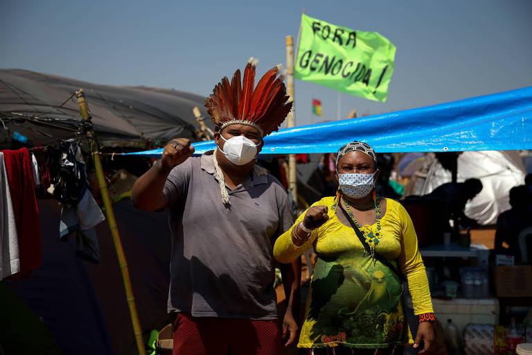 Indígenas protestam contra alteração da política de demarcação de terras