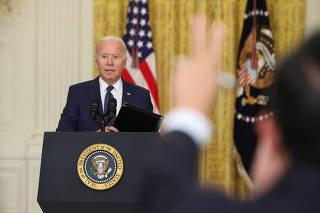U.S. President Joe Biden delivers remarks about Afghanistan, in Washington