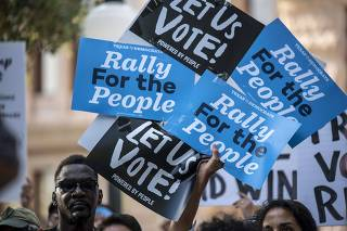 Beto O'Rourke And Texas AFL-CIO Hold Voting Rights Rally At State Capitol
