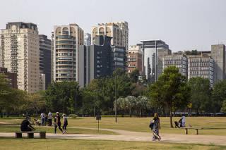 Prédios na região mais cara de São Paulo