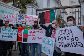 PROTESTO DE AFEGÃOS