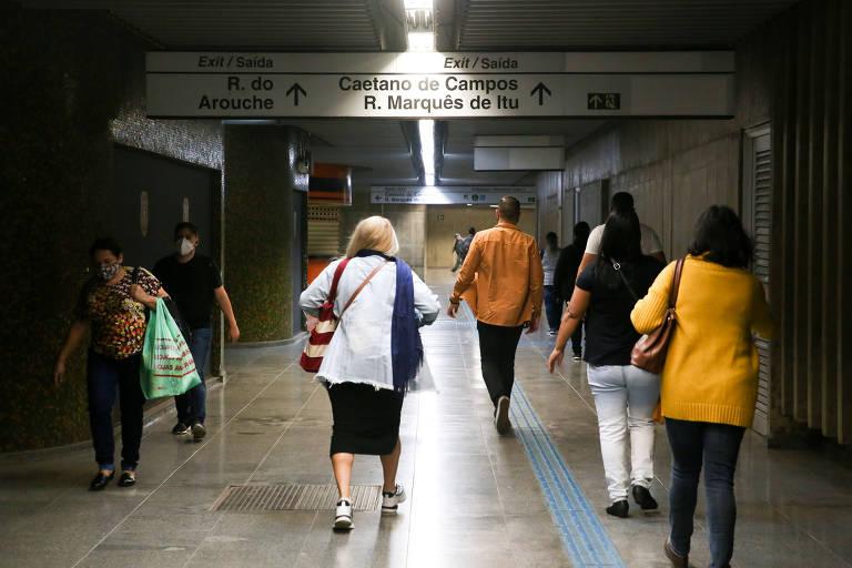 Metrô libera acessos nas estações