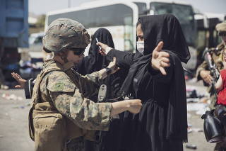 FILE PHOTO: U.S. forces assist in Afghanistan evacuation