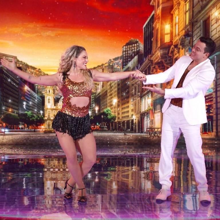Paolla Oliveira durante apresentação de valsa na Super Dança dos Famosos