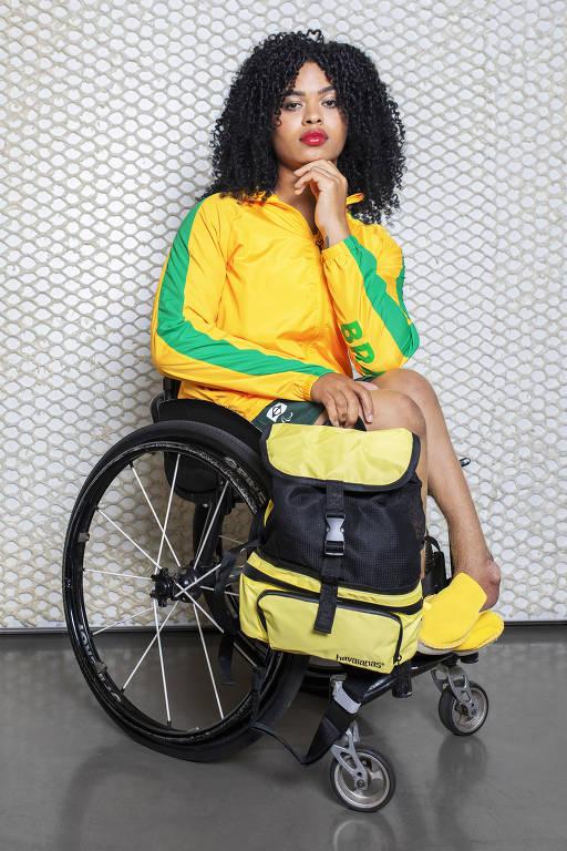Raíssa Machado, do lançamento do dardo, classe F56, falou à Folha sobre o papel do esporte no seu processo de autoaceitação