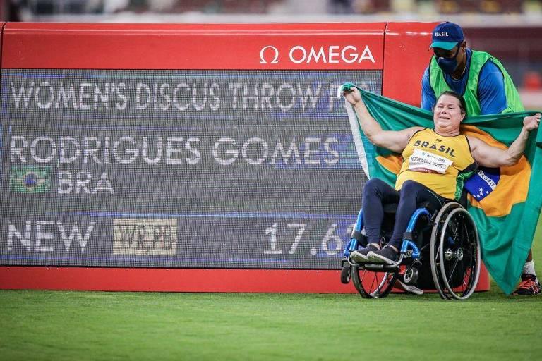 Brasil leva 2 ouros no lançamento do disco e chega a 99 em Paralimpíadas