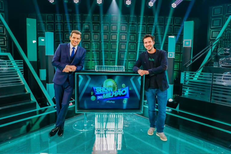 Portiolli endossa papel de discípulo de Silvio Santos no novo Show do Milhão