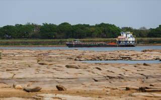 Shores of Rio Paraguay (Paraguay River) in Villeta