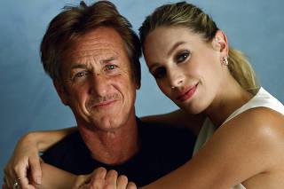 Sean Penn and Dylan Penn in Los Angeles, Aug. 7, 2021. (Daniel Jack Lyons/The New York Times)