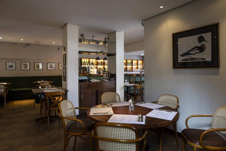 Detalhes do ambiente interno do restaurante Casa Santo Antonio