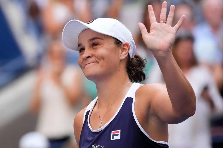 A australiana Ashleigh Barty se vacinou durante um torneio nos Estados Unidos