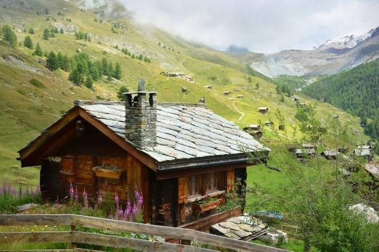 O Valais, que se estende do Lago Genebra ao Matterhorn, é a região mais seca do país