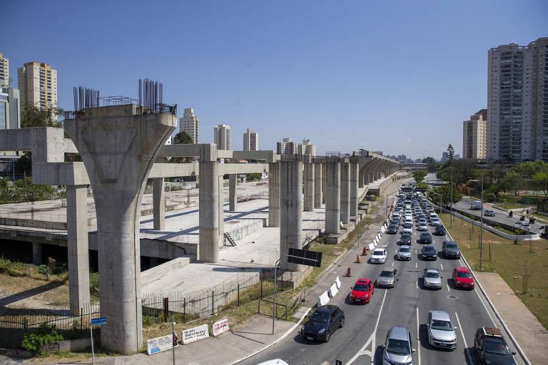 Obras da linha 17-ouro são previstas para terminar em dezembro de 2022