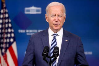 U.S. President Biden delivers remarks on the response in the aftermath of Hurricane Ida, on the White House campus in Washington