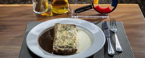 PROJETO ACHADOS ELO. Achado do restaurante Casa Santo Antonio: lasanha de cordeiro com fonduta de parmesão e molho assado. (Foto: Adriano Vizoni/ACHADOS ELO) *** EXCLUSIVO PROJETO ACHADOS ELO ***