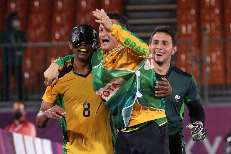 Brasil é penta no futebol de 5 das Paralimpíadas com vitória sobre a Argentina