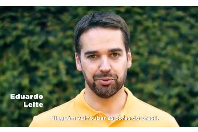 Eduardo Leite fala de volta do Brasil ao centro e cita Chico Buarque e Sergio Reis em vídeo para o 7/9