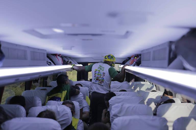 Apoiadores de Jair Bolsonaro em caravana de São Paulo até Brasília para participar de ato no 7 de Setembro
