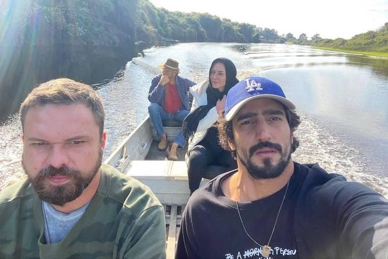 Renato Góes passeia pelo Pantanal