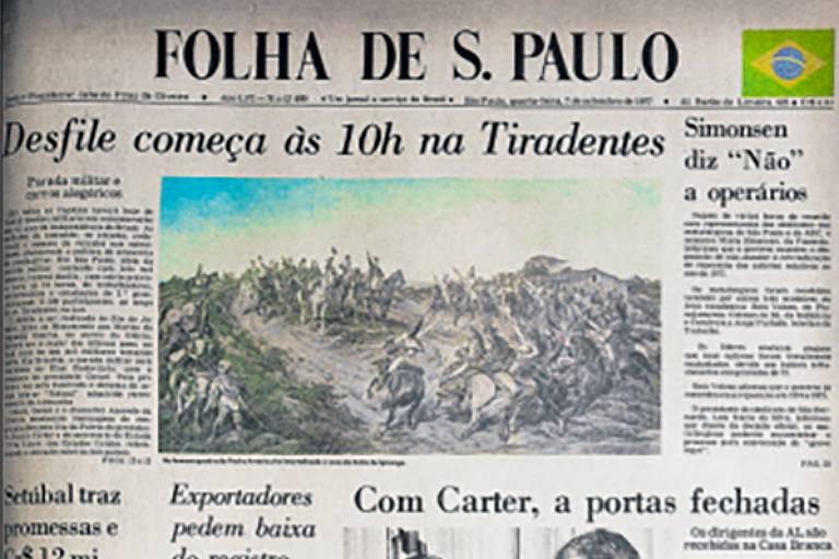 Folha traz bandeira do Brasil em sua primeira página desde os anos 1970