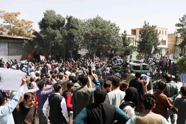 Veja imagens do protesto contra o Paquistão em Cabul