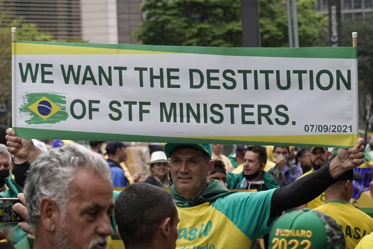 Datafolha: 2 em 3 brasileiros dizem que manifestações bolsonaristas ameaçam democracia