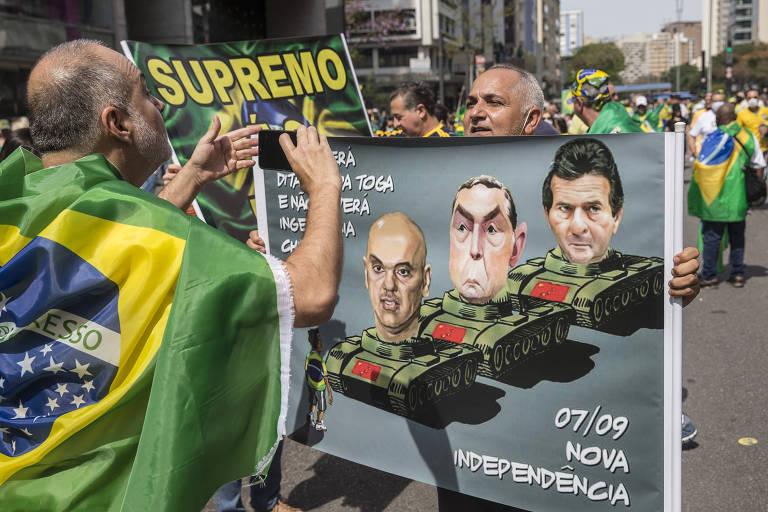 Bolsonaro na Paulista em protesto no 7 de Setembro de 2021