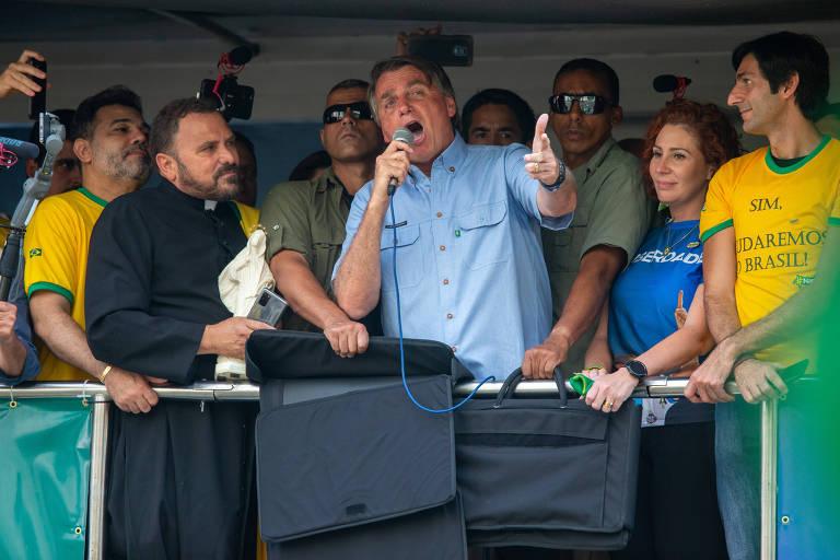 Apoiadores de Bolsonaro na Paulista no 7 de Setembro de 2021