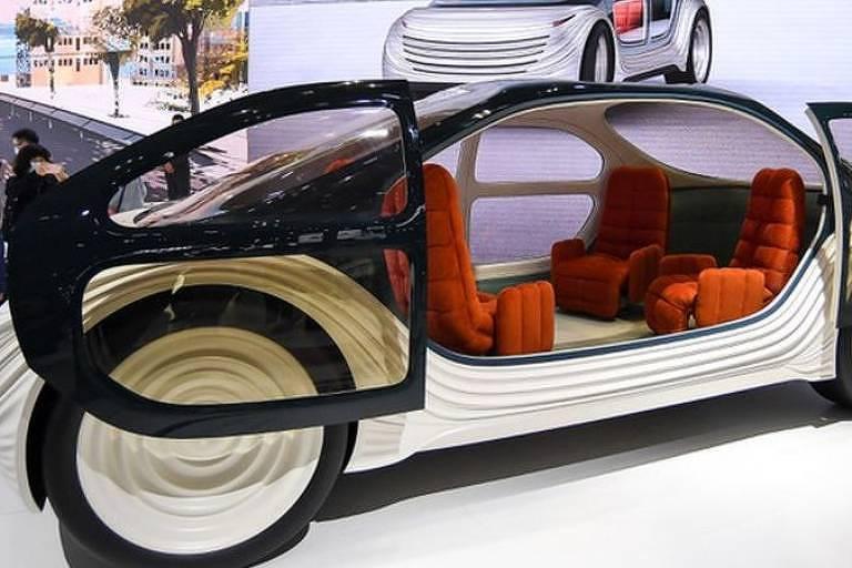 O interior do Airo pretende ser mais uma sala do que um carro