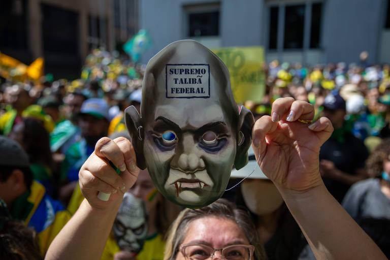 Apoiadores de Bolsonaro na Paulista