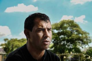 Entrevista com Fábio Carille, técnico do Corinthians, em São Paulo