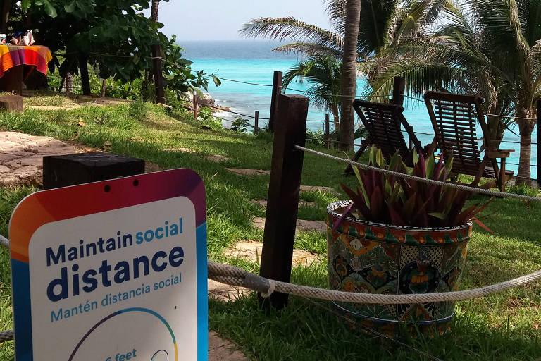 Cancún, onde turismo é 'atividade essencial', mira brasileiros em retomada