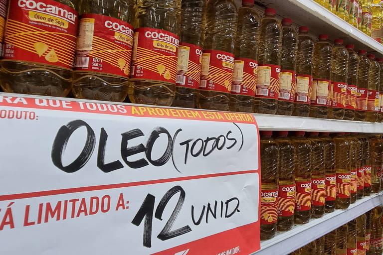 A inflação do grupo de alimentação e bebidas acumula aumento de 13,25% nos 12 meses encerrados em julho; preço do óleo chegou a dobrar