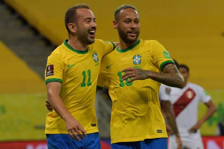 Brasil derrota o Peru e engata a 8ª vitória seguida nas eliminatórias