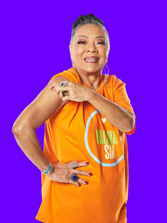 Vilma Victorio do Nascimento, 83, faz parte da 4ª fase da campanha do consórcio de veículos de imprensa