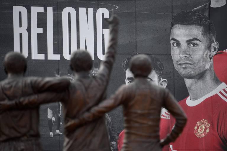 Cristiano Ronaldo faz até o sol brilhar em Manchester