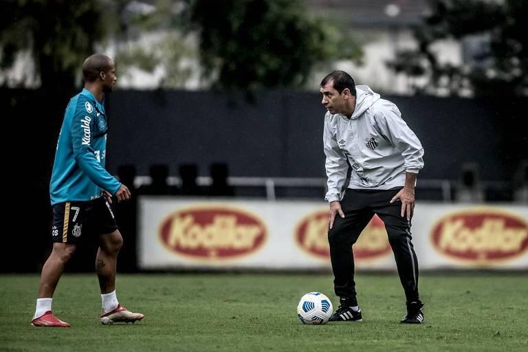 Carille estreia pelo Santos em confronto direto contra o rebaixamento