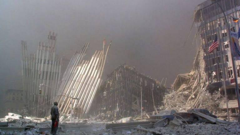 As torres foram reduzidas a escombros