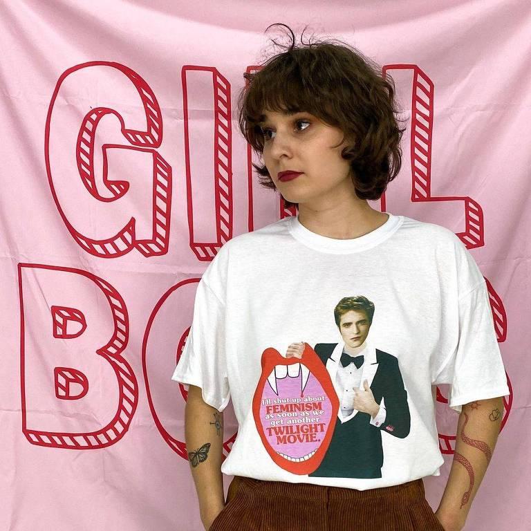 Madison Sinclair e suas camisetas para os fãs de Crepúsculo