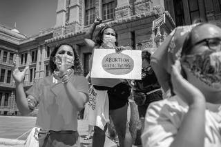 A ?Bans Off Our Bodies? protest at the Texas State Capitol in Austin on Wednesday, Sept. 1, 2021. (Montinique Monroe/The New York Times)
