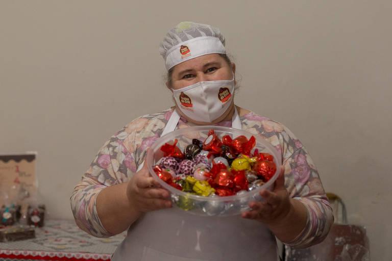 Por causa da pandemia, Cristiane voltou a vender trufas há aproximadamente cinco meses