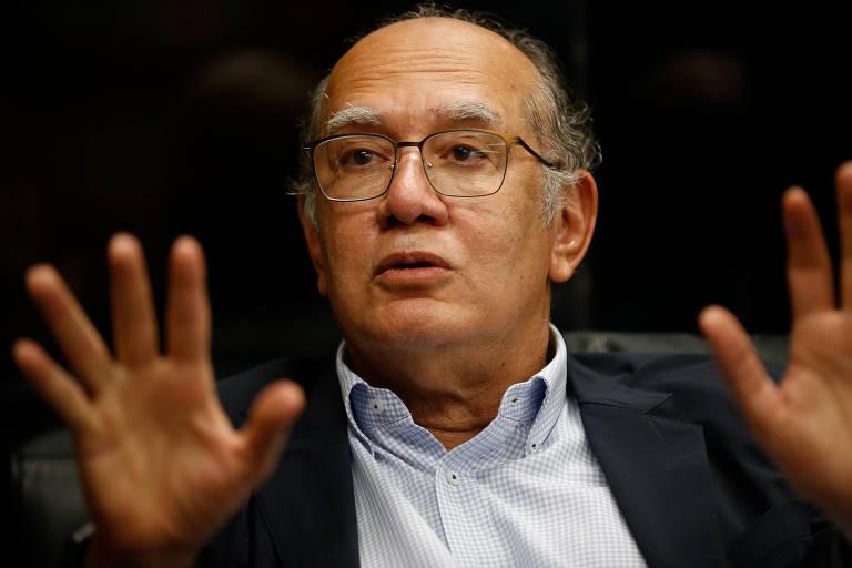 Decano do STF (Supremo Tribunal Federal), ministro Gilmar Mendes concede entrevista à Folha em seu gabinete, em Brasília