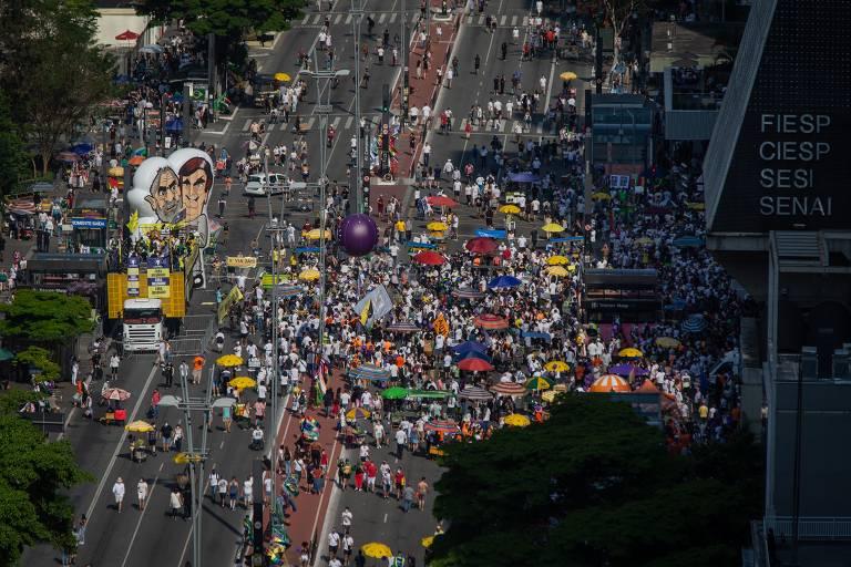 Ato contra Bolsonaro, organizado pelo MBL e Vem Pra Rua, na Avenida Paulista