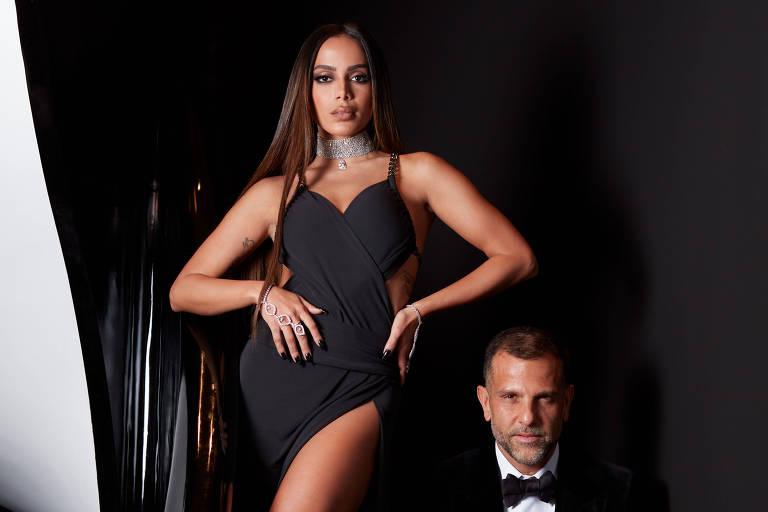 Anitta e Alexandre Birman prontos para o Met Gala