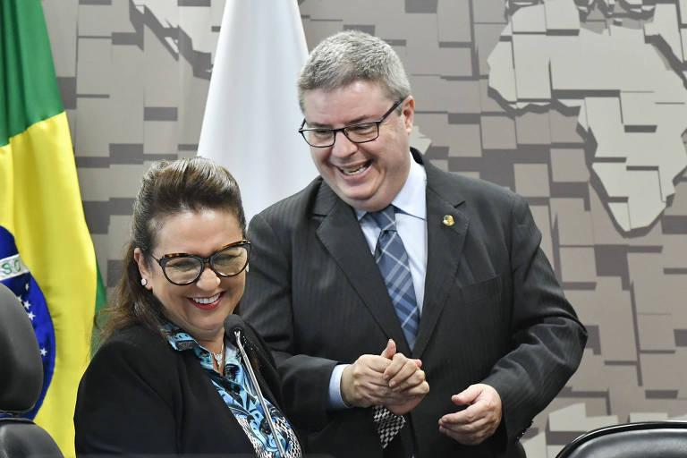 A senadora Kátia Abreu (PDT-TO) e o senador Antonio Anastasia (PSD-MG)