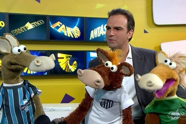Tadeu Schmidt e os cavalinhos do Fantástico