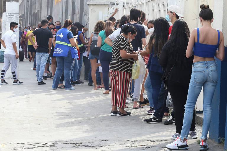 Fina em posto de vacina de São Paulo