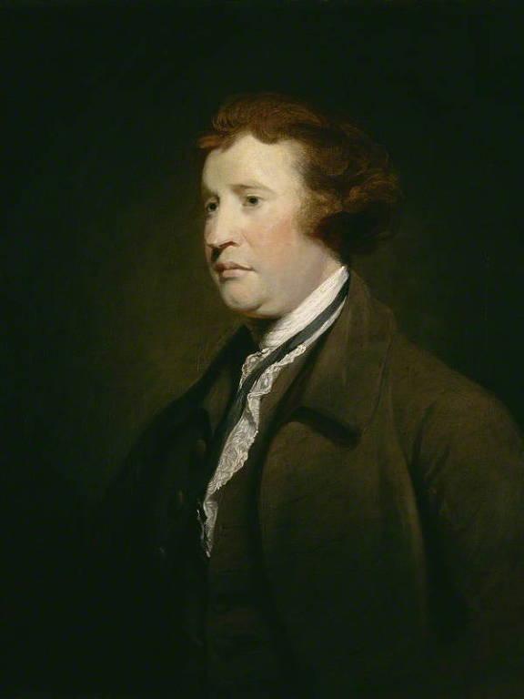 Óleo sobre tela de Joshua Reynolds retratando Edmund Burke