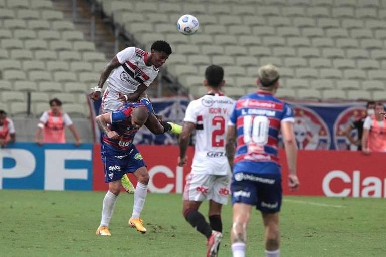São Paulo foi derrotado pelo Fortaleza por 3 a 1, no Castelão, e foi eliminado da Copa do Brasil